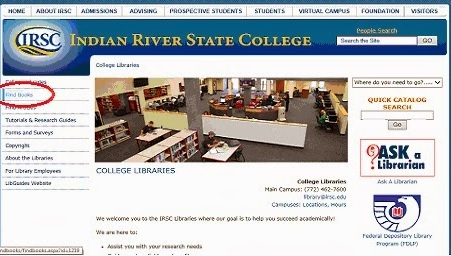 """Group 4\'s """"Using IRSC\'s On-line Library Catalog to Locate an ..."""
